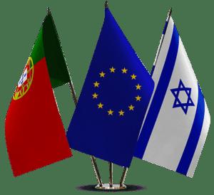 דגל האיחוד דגל ישראל דגל פורטוגל